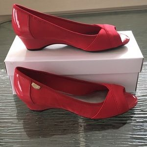 Anne Klein Sport Shoes - New Anne Klein Sport Red open toe wedge. Size 7.5